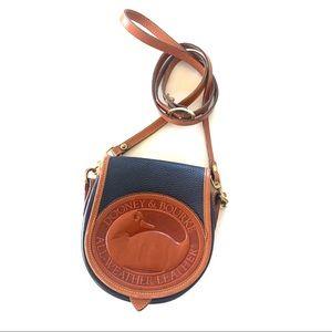 Vintage Dooney & Bourke Mini Crossbody Bag Navy